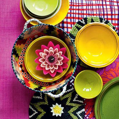 Mismatched crockery | Mediterranean Style Decorating Ideas | Interiors | redonline.co.uk