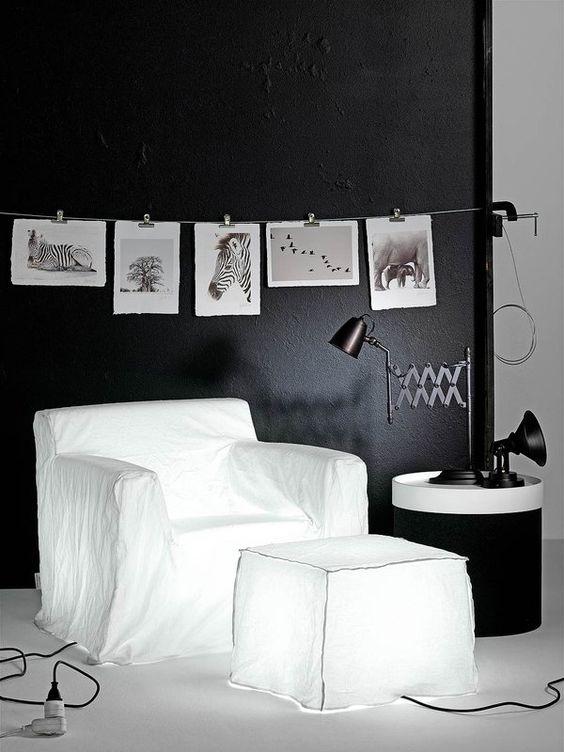 Impacto visual en #blanco y #negro #decoración