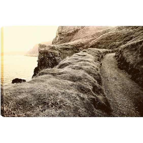 Hobbitholeco., P.T.Turk, Path on thr Rock, Landscape Photography 18X24, Ready to Hang Wall Art Decor