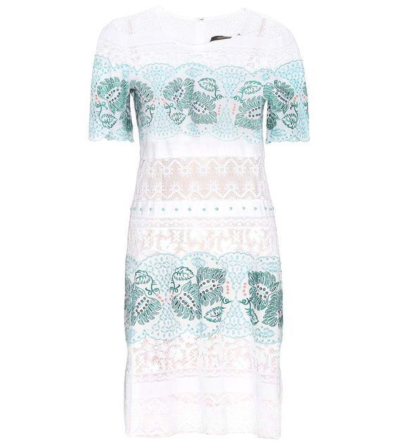 ROBERTO CAVALLI Embroidered Cotton Dress. #robertocavalli #cloth #clothing