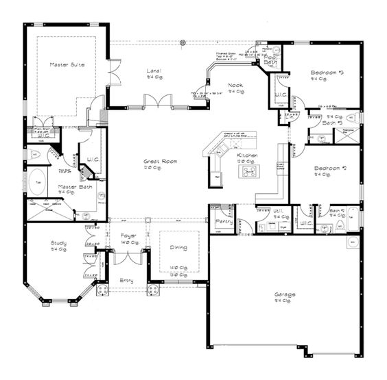 First Story Open Floor Plans And Open Floor On Pinterest