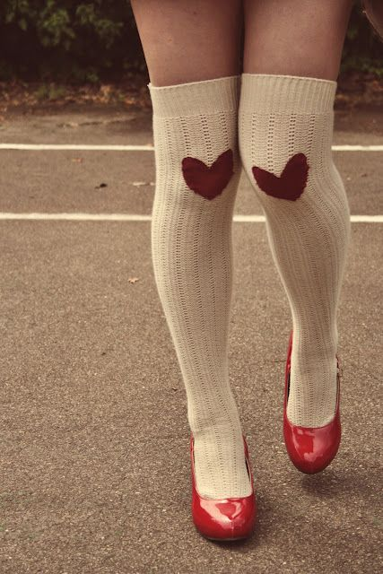 DIY Heart Socks