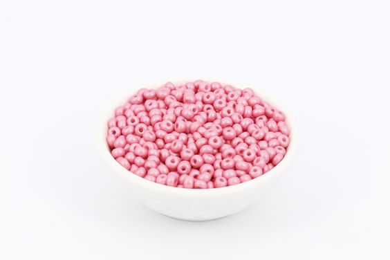 6/0 Matt Pearl Czech Seed Bead Pink