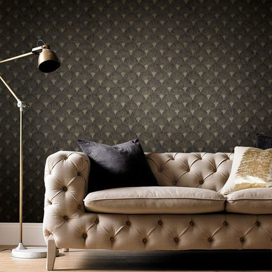 Fan Black And Gold Wallpaper Black Gold Bedroom Gold Wallpaper Gold Bedroom