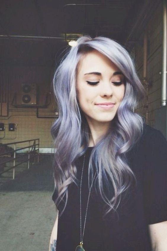 Grey lavender pastel hair