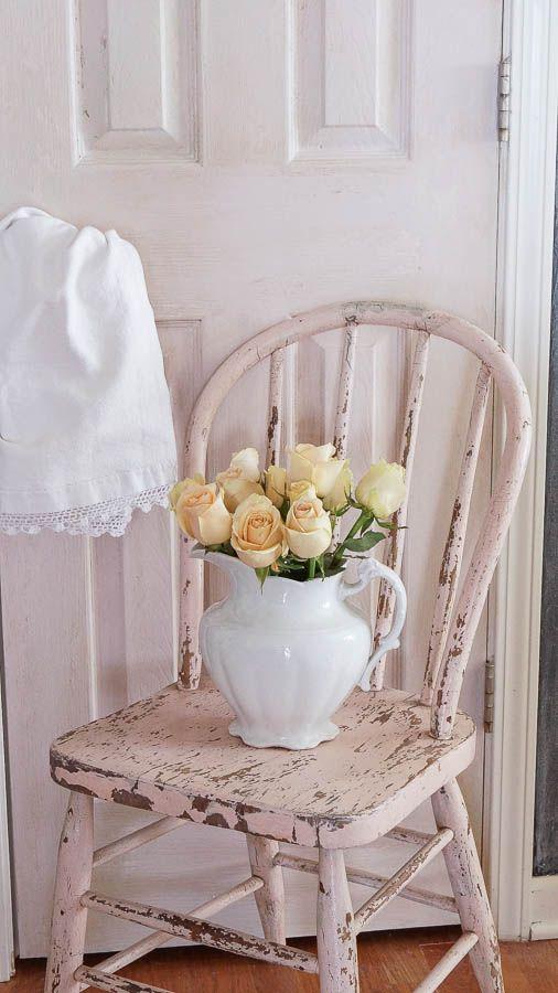 DIY Chippy Patina - White Lace Cottage: