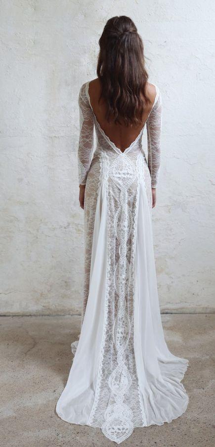 Bridal dress - Rückenfreies Hochzeitskleid
