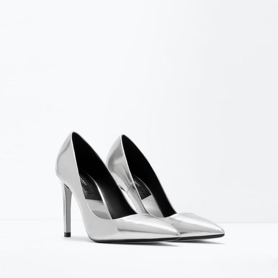 ZARA - SALE - LAMINATED HIGH HEEL COURT SHOE | Fashion | Pinterest