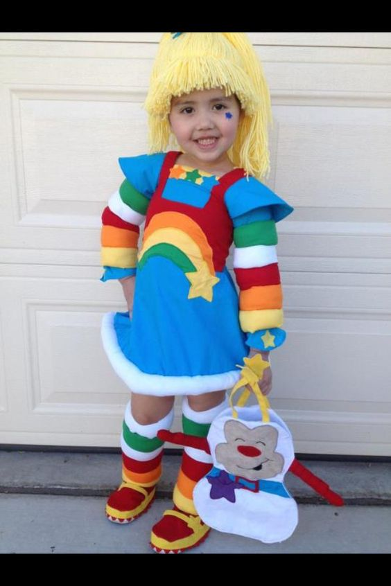 For the adult rainbow brite halloween costume not