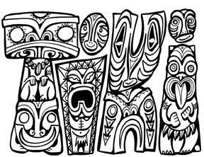 Maori Tiki Colouring Pages