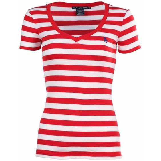 Polo Ralph Lauren Women's Sport Stripe T-Shirt ❤ liked on Polyvore