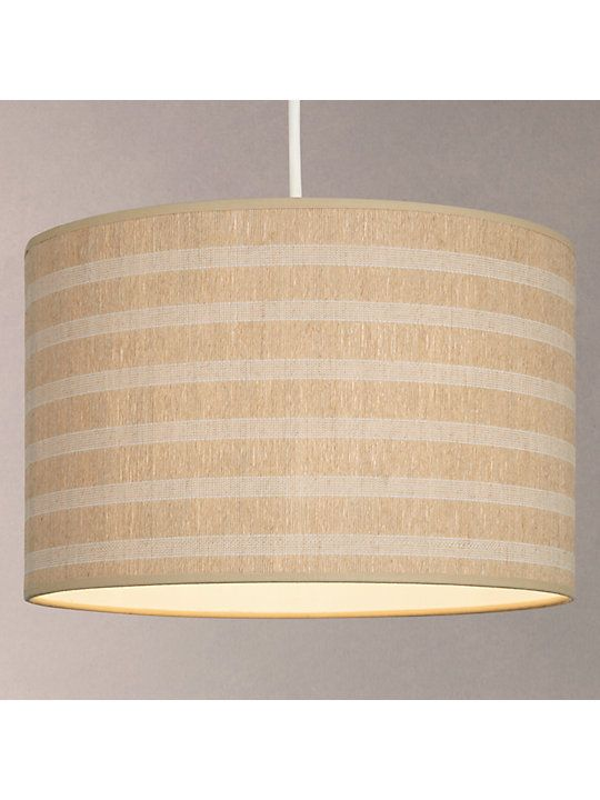 John Lewis Partners Weave Striped Lampshade Natural Ceiling