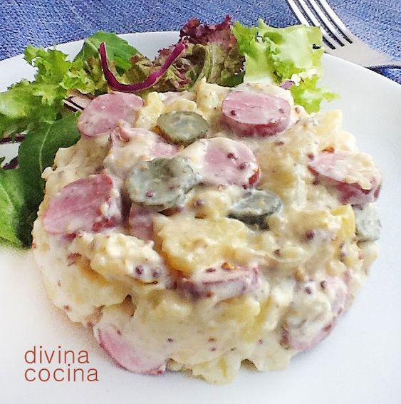 Ensalada de patatas alemana (kartoffelsalat)