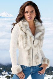 Boston ProperSnow bunny zip-front cardigan: Faux Fur, Cardigans Jackets Sweaters, Fashion Styles, Coats Jackets, Winter Fashion, Fall Winter, Winter Coats, Cute Jackets