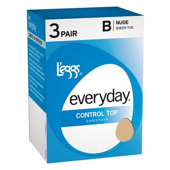 L'eggs Everyday Women's Control Women's Jet Top ST Pantyhose