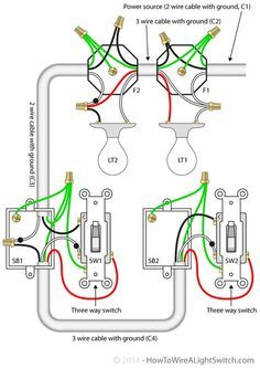 3 Way Switch With Power Feed Via The Light Multiple Lights How To Wire A Light Switch With Images Home Electrical Wiring Electrical Wiring Light Switch Wiring