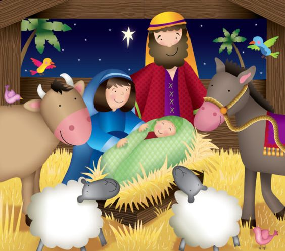Helen Poole - child is born in stable.jpg:
