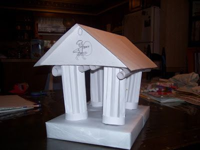 Greek crafts temples and kids learning on pinterest for How to make paper temple