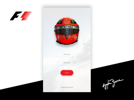 F1 App - Sign In by Yaman