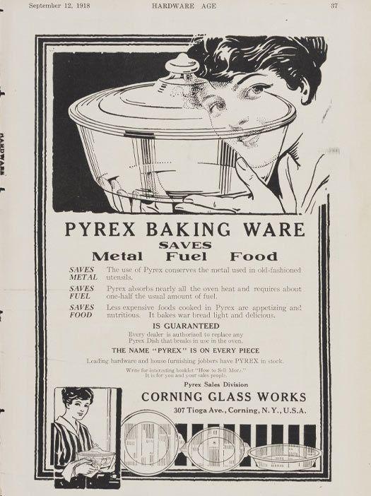 Pyrex Baking Ware Saves Metal Fuel Food