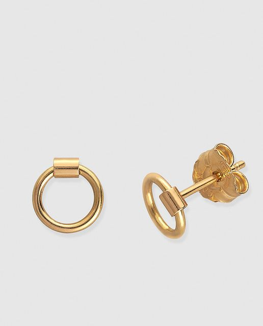 Aretes Argollas 925 Sterling Silver Pendientes Joyería Fina de Moda De Oro Mujer