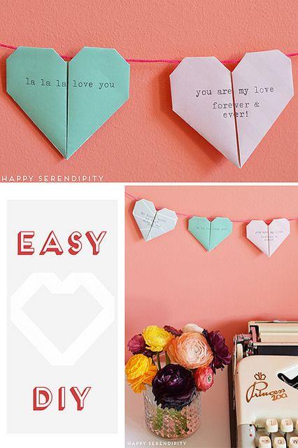 origami heart_easy diy2 by happy_serendipity, via Flickr