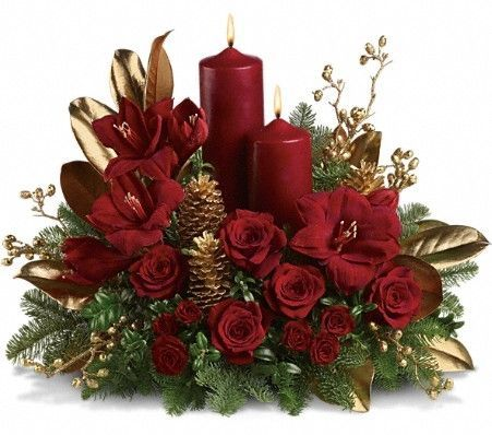 candle arrangement for christmas