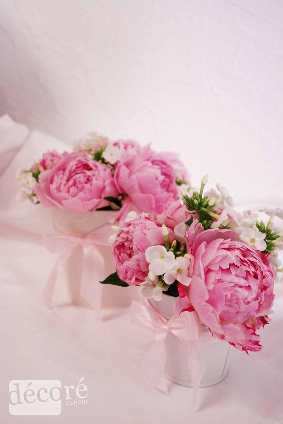 Compositions Florales Base De Pivoines Pour Un Cadeau Ou Pour Un Joli Centre De Table Pour Un