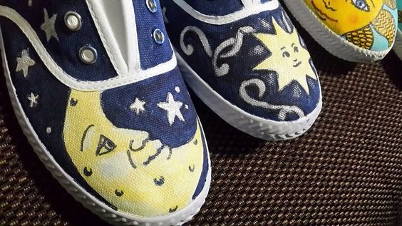 Hand painted shoes by Vianda