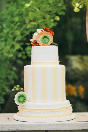 whimsical wedding cake. yellow