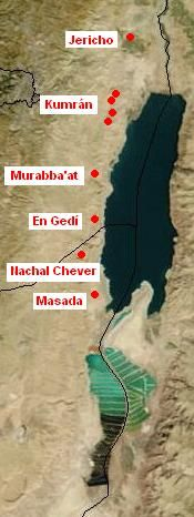 Qumran - where a cache of ancient biblical texts the Dead Sea Scroll were discovered in 1947