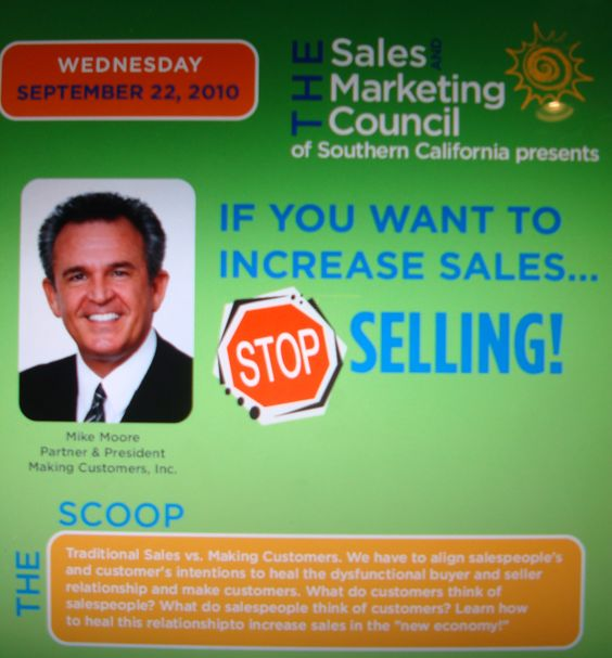 "Southern California SMC New Home Sales Training ""If You Want To Increase Sales...Stop Selling!"""