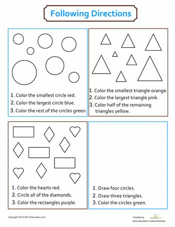 9 best Following Directions Activities images on Pinterest ...