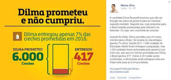 davidmessias: Folha desmente Marina e constata que Dilma fez as ...