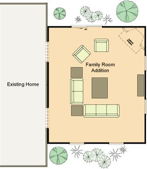 Family room addition floor plan house addition for Room addition blueprints