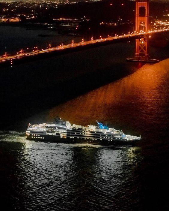 #Fontvieille [Quiz] Ce navire de la compagnie de croisières Ponant passe sous : A/ le pont de Normandie au Havre B/ le pont du Golden Gate à San Francisco C/ le Harbour Bridge de Sydney by seagnature from #Montecarlo #Monaco