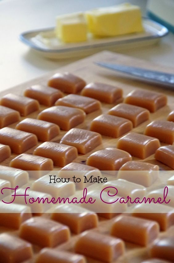 Learn How to Make Homemade Caramel!  This is the most delicious candy recipe you will ever try and it is incredibly easy!  Makes a great homemade gift idea or just a sweet treat for the family!