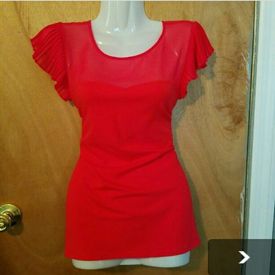 NWT Express Red Top With Sweetheart Neckline Express Red Top With Sweetheart Neckline. Never worn. Price firm. Express Tops Blouses