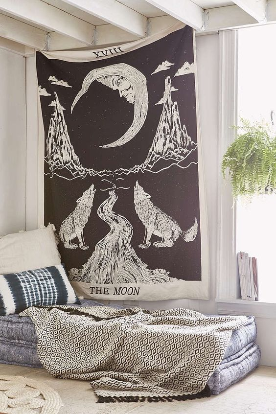 Urban Outfitters Tapestry Black And White