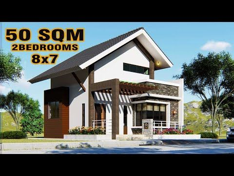 Small House Design Loft Type 2 Bedroom 8x7 Meters Youtube Small House Design Loft Loft House Design Small House Design Plans