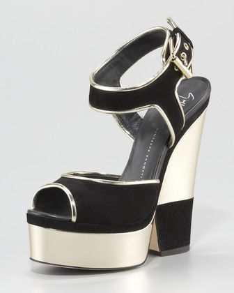 <3 Platform Ankle-Strap Sandal by Giuseppe Zanotti at Neiman Marcus.