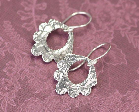 Artisan Sterling Silver Rustic Earrings – Calieri