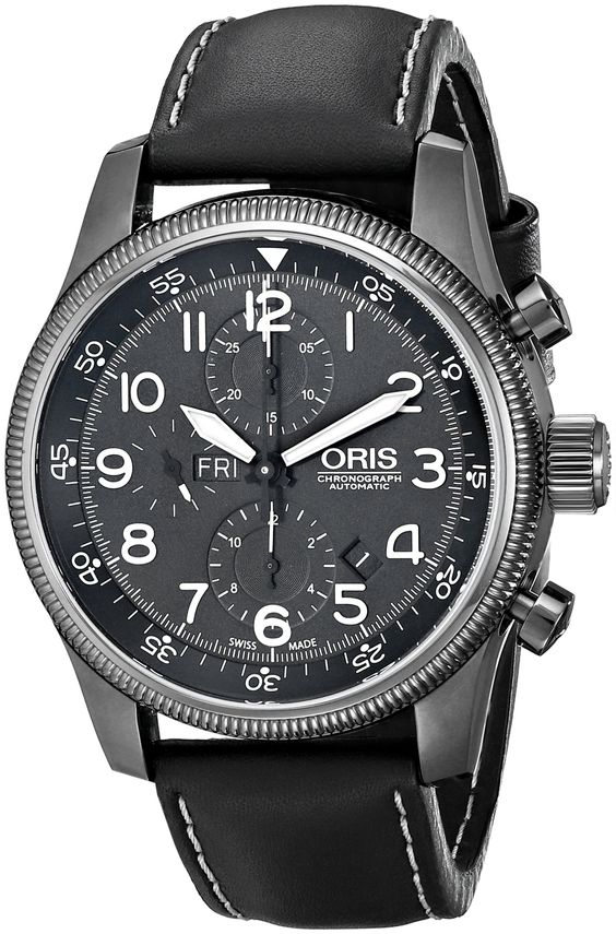 Oris Men's 67576484234LS Big Crown Analog Display Swiss Automatic Black Watch