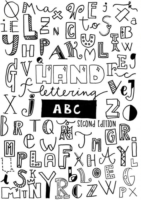 afbeeldingsresultaat voor handlettering alfabet