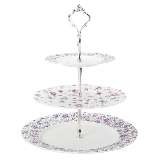 Lidded Clear Optic Glass Cake Stand