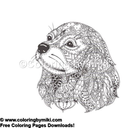 Zentanlge Dog Coloring Page 945 塗り絵 動物のスケッチ ぬり絵