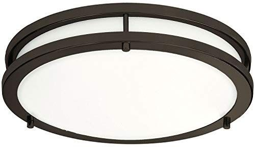 Amazon Com Lb72121 12 Inch Led Flush Mount Ceiling Light Oil Rubbed Bronze 4000k Cool White 1200 Flush Mount Ceiling Lights Ceiling Lights Led Flush Mount