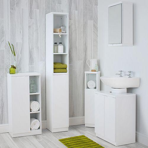 High Gloss Compact Bathroom Tallboy White Store Bathroom Storage Cabinets Units Bathroom Tallboy Bathroom Storage Units White Corner Cabinet