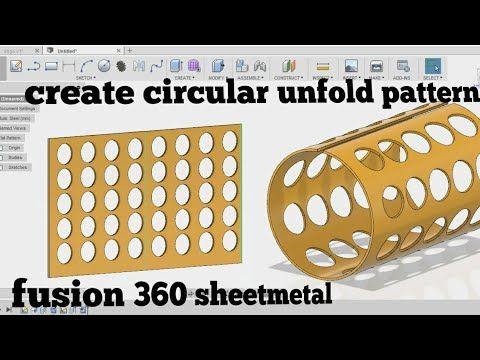 25 Unfold Circular Components Fusion 360 Sheetmetal Tutorial Youtube Solidworks Tutorial Tutorial Fusion