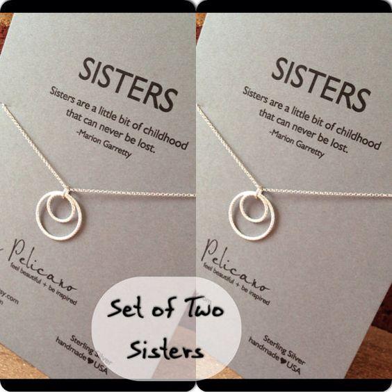 Schwestern Halskette. Zwei Schwestern Schmuck. von erinpelicano